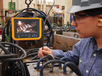 Fluke Diagnostic Videoscopes enable maintenance teams to diagnose problems without dismantling equipment