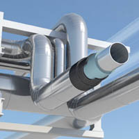 Armaflex cryogenic insulation assembly as suitable for use on pipework, tanks and vessels.